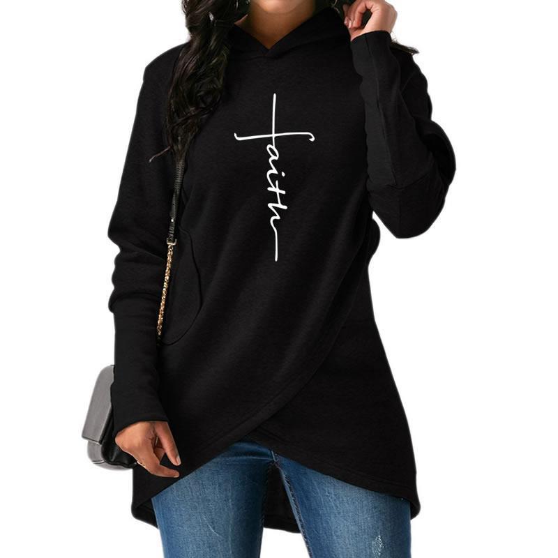 Mujer otoño ropa nueva moda fe impresión Hoodies mujeres Tops sudaderas ropa algodón PANA calle gruesa de gran tamaño