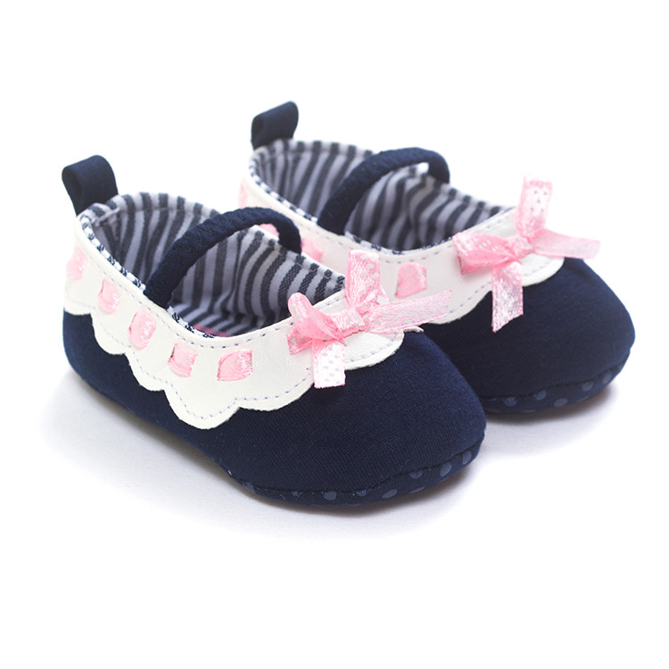 2017 baby shoes Soft Bottom Fashion cotton fabric Baby Moccasin Newborn Babies Shoes PU leather Prewalkers shoe BX287