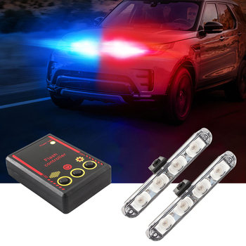 2x4 LED Car Truck Flashing Firemen Automobiles Strobe Warning Police Light Ambulance Emergency Flasher DRL Day Running lights цена 2017