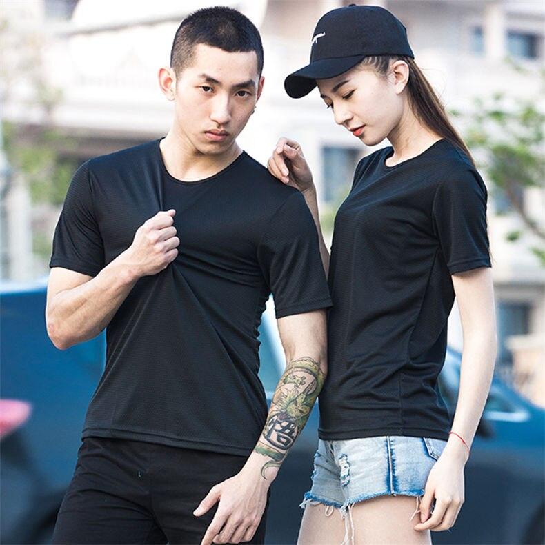 XS-5XL Fast Dry T shirts Men Women Short Male Female Fitness T-Shirts Summer Breathable Hiking Couple Sweat-shirts Man Plus Size 0