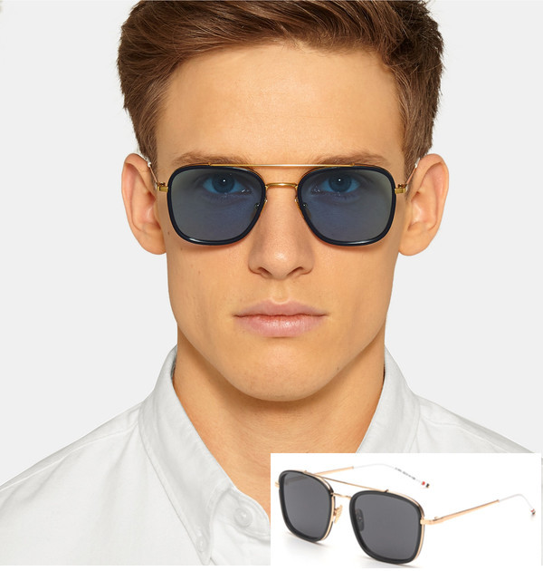 c5287c1ae2c Todays Offers Brand Square Flat Top Mirror Sunglasses Men Vintage Casual  Women Sun Glasses Retro Shades Gafas de sol mujer UV400-in Sunglasses from  Apparel ...