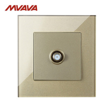 Manufacturer,MVAVA Satellite TV Receptacle Smart Home Hotel Luxury Crystal Cable Television Wall Socket Free Shipping