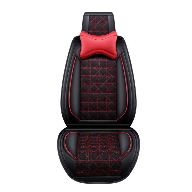 (Avant + arrière) housse de siège de voiture en cuir et lin pour lada 2107 2114 granta vesta priora kalian largus xray niva protecteur de siège de voiture