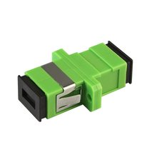 20pcs/lot SC APC Simplex Fiber Optic Adapter SC APC Optical fiber Coupler SC Fiber Flange SC APC Connector(China)