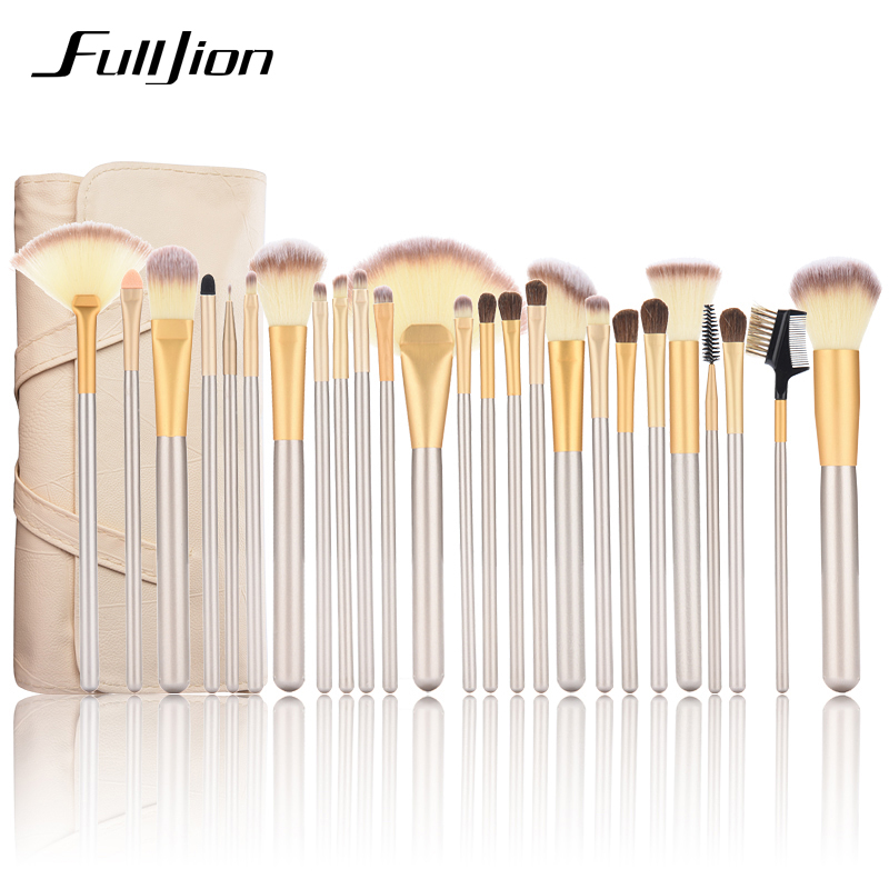 Professional Makeup Brush Set 12/24 pcs Soft Synthetic Cosmetic Makeup Foundation Powder Blush Eyeliner Brushes tool maquiagem 7pcs makeup brushes professional fashion mermaid makeup brush synthetic hair eyebrow eyeliner blush cosmetic