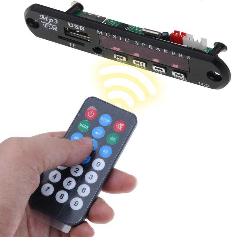 Беспроводной fm-приемник 5 в 12 В Автомобильный MP3-плеер декодер плата аудио модуль радио Wma FM TF USB 3,5 мм Звуковые Колонки AUX не Bluetooth