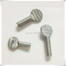 M5 Zinc Plated Carbon Steel Flat Head Handle Racket Thumb Screw 50pcs/lot