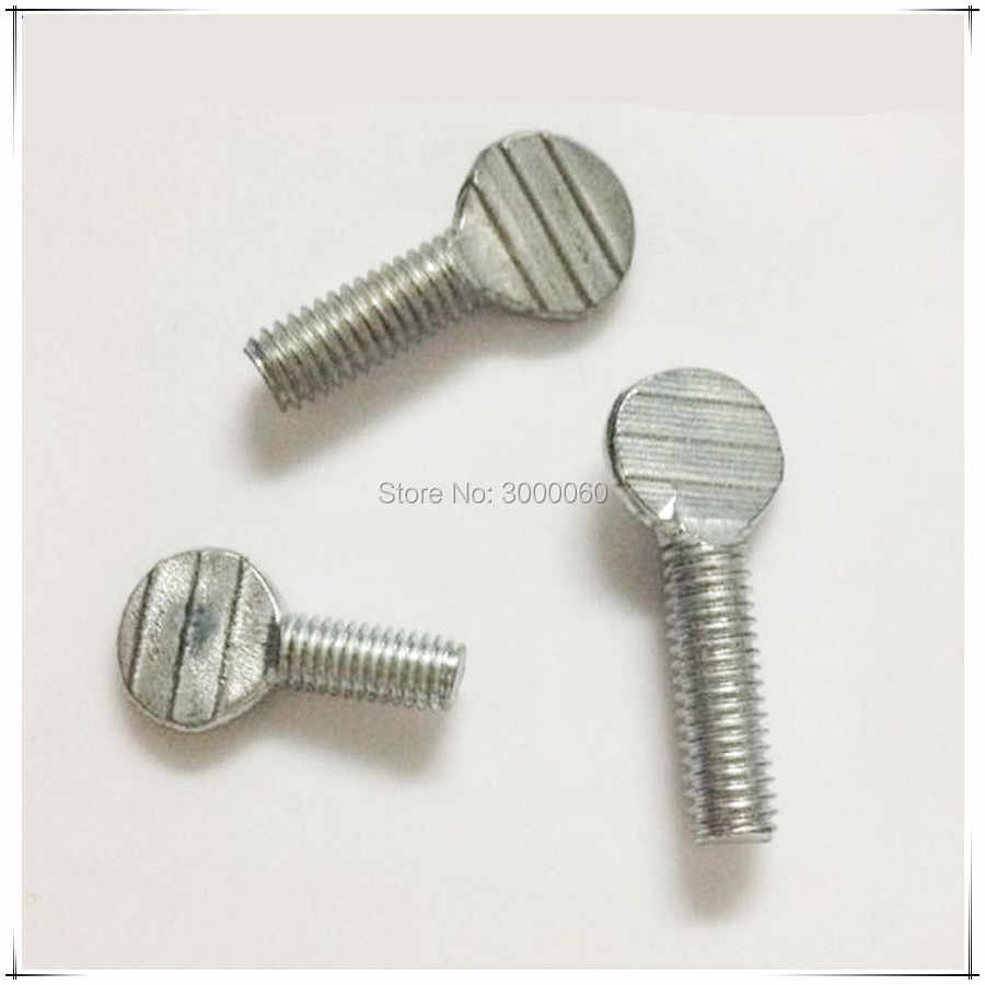 M5 Zinc Plated Carbon Steel Flat Head Handle Racket Thumb Screw 50pcs/lot