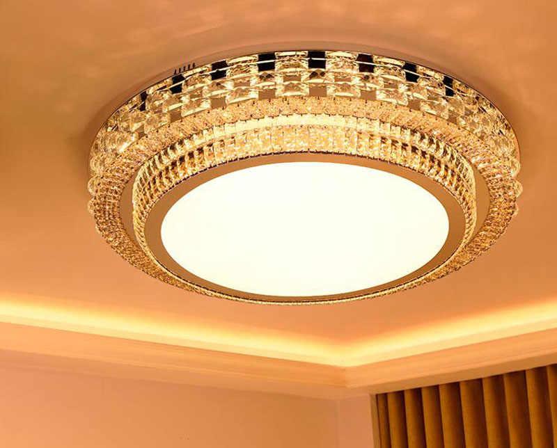 Living Room Light Simple Modern Atmosphere Home Luxury Lobby Light Creative Crystal Lighting Rectangular LED Ceiling q50
