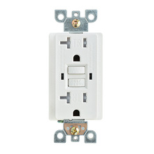 American Standard gfci  20A GFCI Electrical Outlet Receptacle 20 Amp White TR w/ LED wall socket Leakage protection