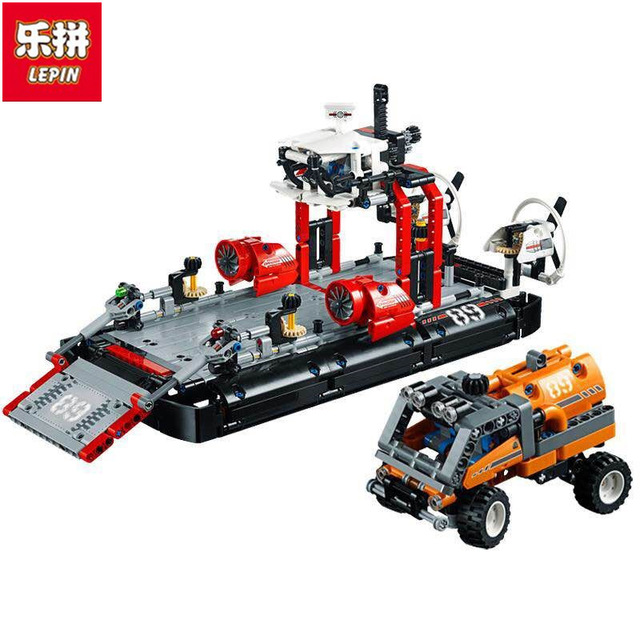 in stock Lepin 20078 Technic Series The Hovercraft Set Compatible 42076 1101Pcs Model Building Blocks Bricks Toys For Kids Gifts lepin 20031 technic the jet racing aircraft 42066 building blocks model toys for children compatible with lego gift set kids