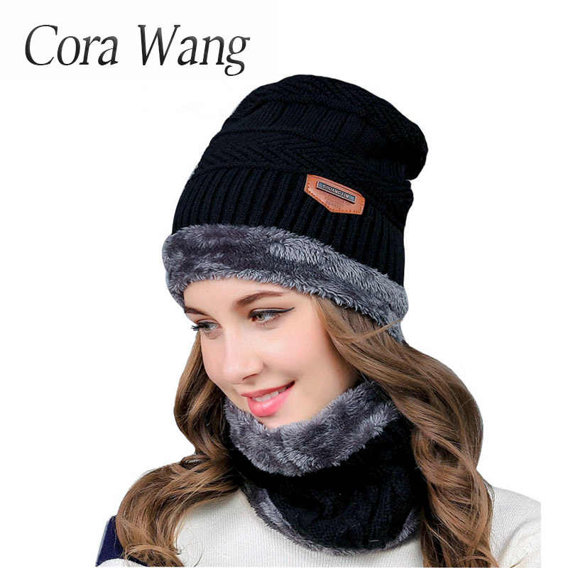 16dffbad50e ... Cora Wang Balaclava Knitted hat scarf caps neck warmer Winter Hats For Men  women skullies beanies ...