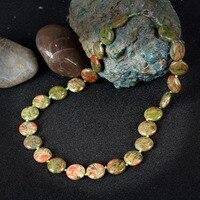 הגאדג 'טים של K ירוק עגול תכשיטי נשים שרשרת Chocker אבן בעבודת יד הודי Collares שרשרת אבנים טבעיות Mujer