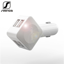 SeenDa Car Charger for iPhone Mobile Phone Quick Charger 4 Port USB Car Charger Adapter for Samsung iPad Xiaomi iPhoneX in Car