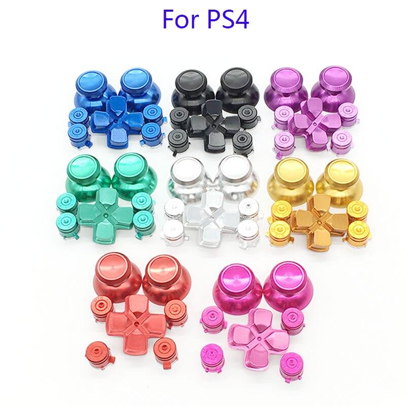 Für Dualshock 4 PS4 Pro Slim-Controller Rote Metall Analog-Sticks Aluminium Dpad Action Tasten Für Playstation 4 Gamepad