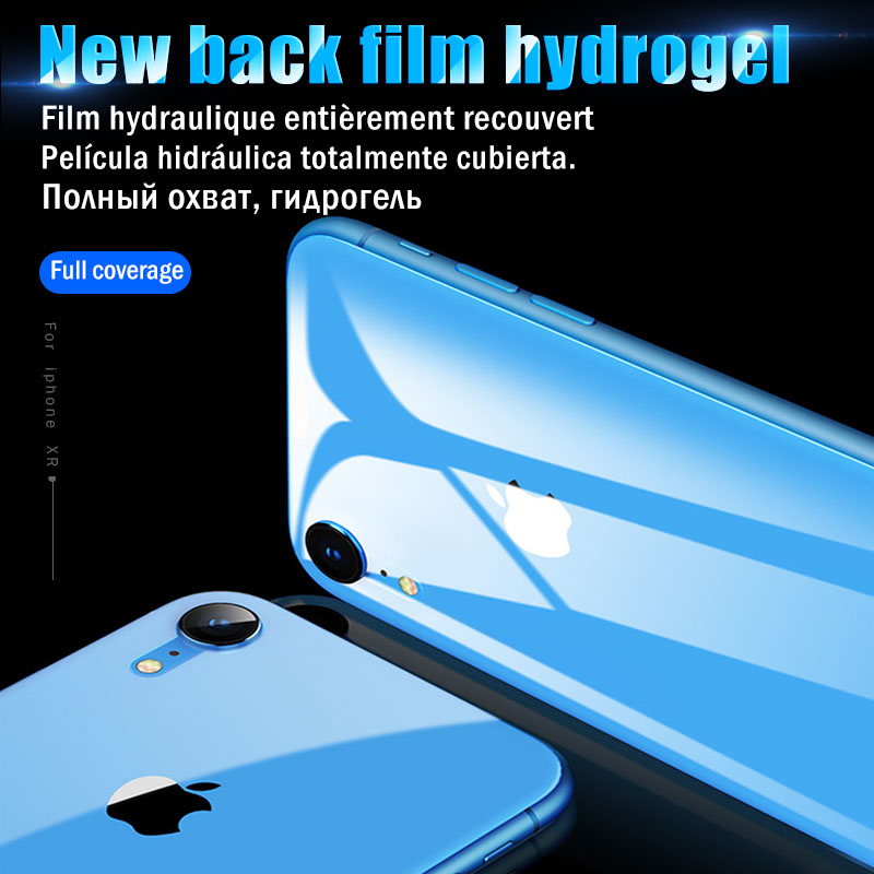 Soft Hydrogel Film For iPhone XR X XS Max 7 8 6 6S Screen Protector For iPhone 7 8 XR X XS Max 6 6S Back Film { Not Glass }