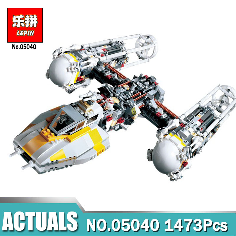 LEPIN 05040 Star Series Wars Y-wing Attack Starfighter Model Building Kits Blocks Bricks Boy Toys Compatible Legoing 10134 lepin 05040 star series war the y set wing attack star model fighter building blocks assembled bricks toys compatible with 10134