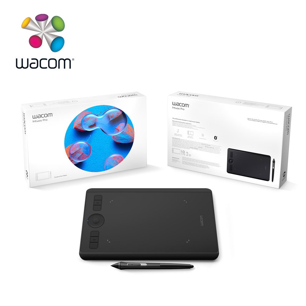 Wacom Intuos Pro Creative stylo tablette graphique dessin tablettes (PTH-460 petit) 8192/multi-touch/sans fil Bluetooth - 6