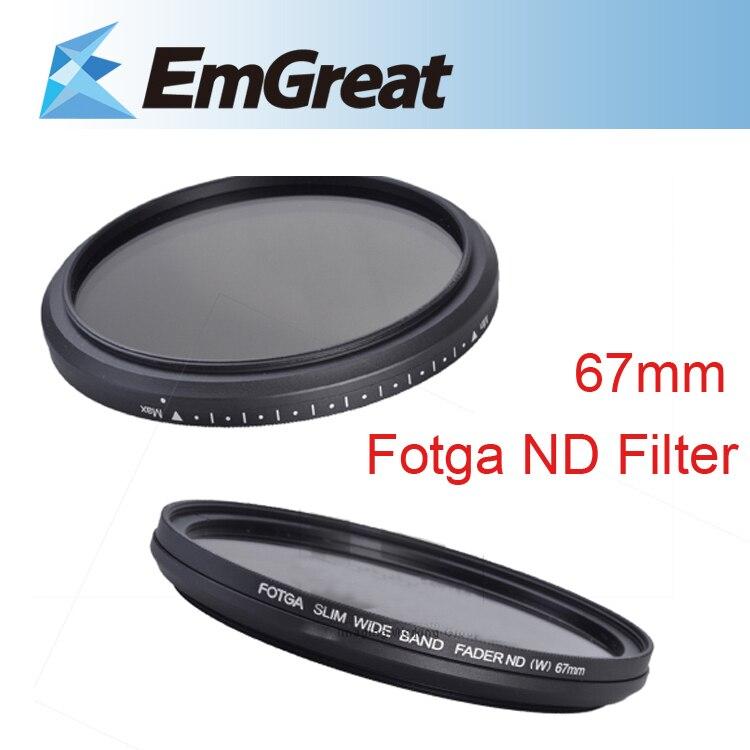 Fotga 67mm Schlank Fader ND Filter Objektiv Beschützer Variable Neutral Dichte ND2 zu ND400 für Sony Canon Nikon Kamera objektiv 013994
