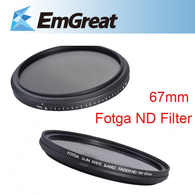 Original Fotga 67mm Slim Fader ND Filter Lens Protector Variable Neutral Density ND2 to ND400 For Canon Nikon Camera Lens 013994