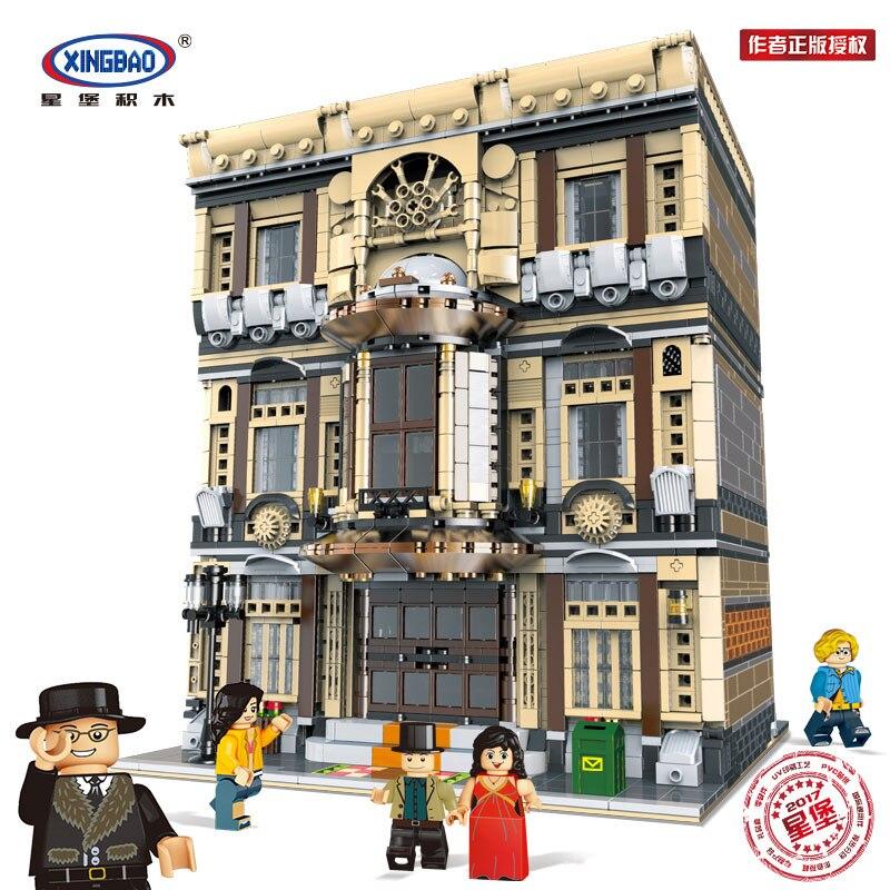 Genuine Creative MOC City Series XingBao 01005 5052Pcs The Maritime Museum Set Building Blocks Bricks Children
