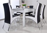 Modern Dining Chiar PU Leather V Shaped Style Dinning Room Dining Chair Furntiure Hot Sale Chairs