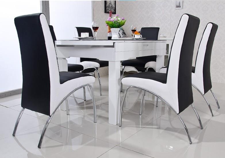 Comprar silla de comedor moderno pu de for Sillas de cuero para comedor