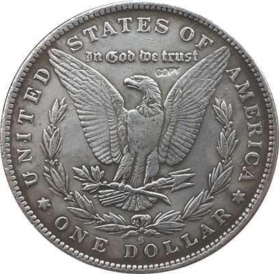 Hobo Nikkel 1893-S VS Morgan Dollar COIN COPY