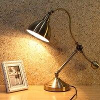 Прикроватные Чтение свет античный светодиодные настольные лампы светодиодные огни Рабочий стол Спальня Кабинет офис led защита глаз декора