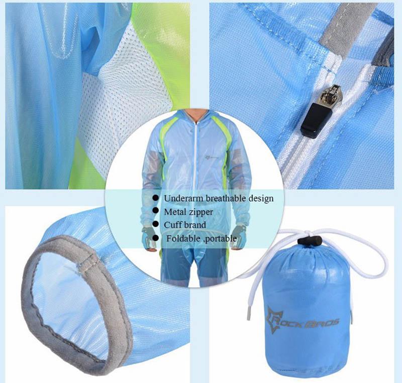 ROCKBROS Waterproof Cycling Jersey breathable Jacket Jersey Windproof Coat Clothing MTB Reflective Bike Road Raincoat RK0019 (15)