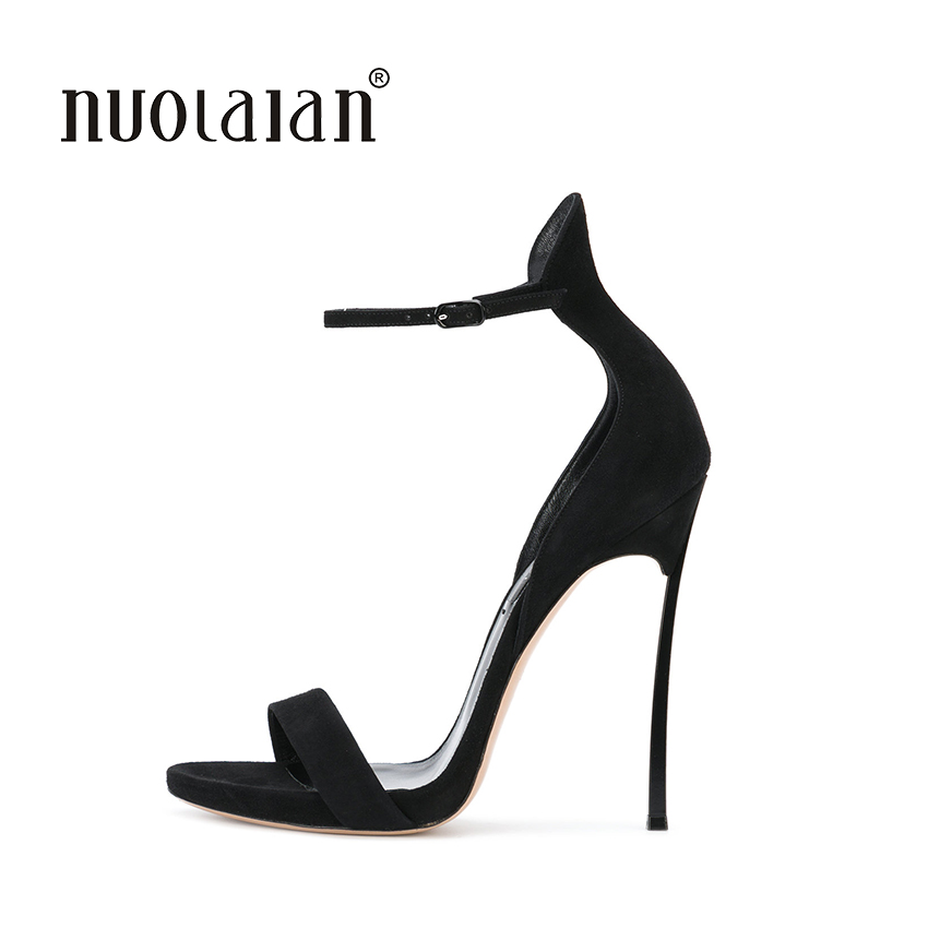 NEW Women Shoes Open Toe Women Sandals Ankle Strap High Heels Sandals Summer Party Weeding Shoes Woman Sandalias Ladies Shoes new arrival black brown leather summer ankle strappy women sandals t strap high thin heels sexy party platfrom shoes woman