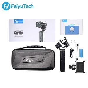 Image 5 - FeiyuTech G6 Splashproof Handheld Gimbal Feiyu Action Camera Wifi + Bluetooth OLED Screen for Gopro Hero 8 7 6 5 RX0 Yi 4k