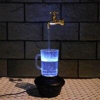 7สีแสงLEDก๊อกน้ำสตรีมก๊อกน้ำประปาRGBไฟLEDน้ำก๊อกน้ำประปากับขว