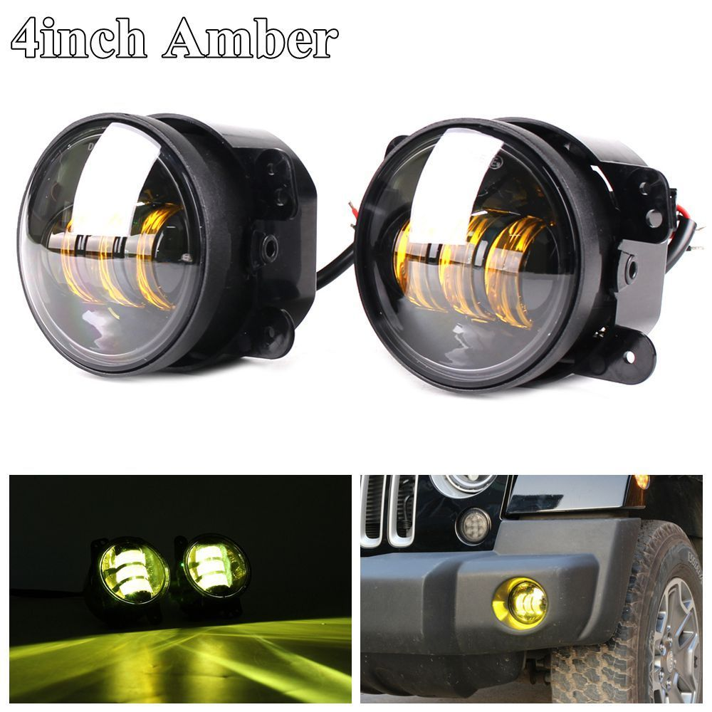 4 inch 30W LED fog lights Len Projector for Jeep Tractor Boat LED fog lamps bulb Auto led foglight Driving Offroad lamp цена
