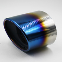 Chrome Stainless Steel Exhaust Tip Tail Pipe Muffler For 2008 Honda Accord