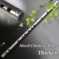 Chinese Flute Stainless Steel Pipes Dizi Transverse Musical Instrument Metal Flauta Self defence Weapon Handmade In G Key