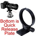 Lente tripé de suporte w / placa de liberação rápida para Canon B (b) MP-E 65 mm f / 2.8 1-5X de Macro EF 180 mm f / 3.5L Macro USM