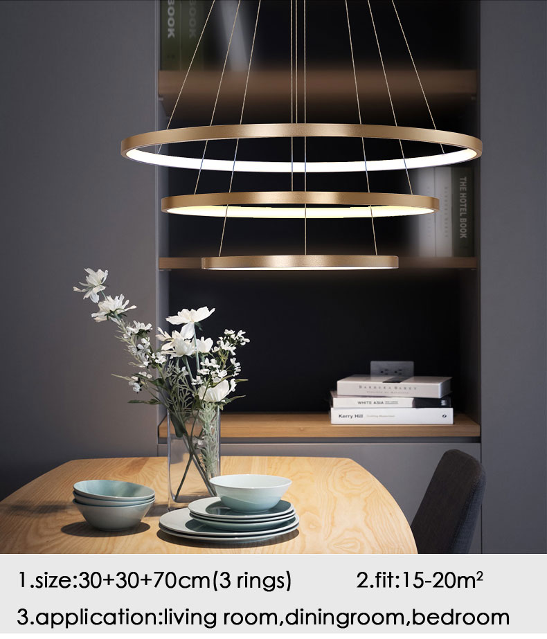 HTB1MjTUiH1YBuNjSszhq6AUsFXaY Modern Home LED Ceiling Light For Living room Dining room Kitchen Lustre 6Ring 5Rings Hanging Lamp Ceiling Lamp Lighting Fixture