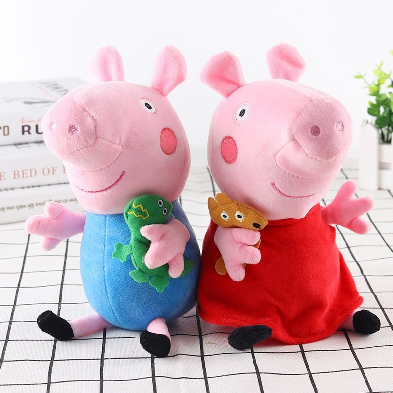 Peppa Pig Little George Pepe Pig Family Plush Toy 25cm Filled Doll Party Plush Toys Children's Birthday Gifts