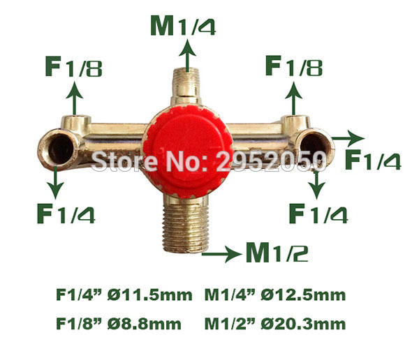Air compressor parts Bama bracket / wind / air compressor outlet 6 ports iron bracket with Safety valve adjustable pressure
