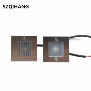 AC85~265V/DC12V LED Waterproof 3W/6W Underground Lights Outdoor Step stairs Lights for Garden Patio Landscape Decoration Lamp