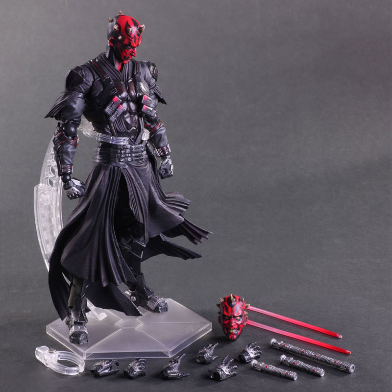 Huong Movie Figura 26 CM PlayArts KAI Star Wars Darth Maul Action PVC Figure Da Collezione Model Toy huong movie figure 26 cm playarts kai star wars darth maul pvc action figure collectible model toy