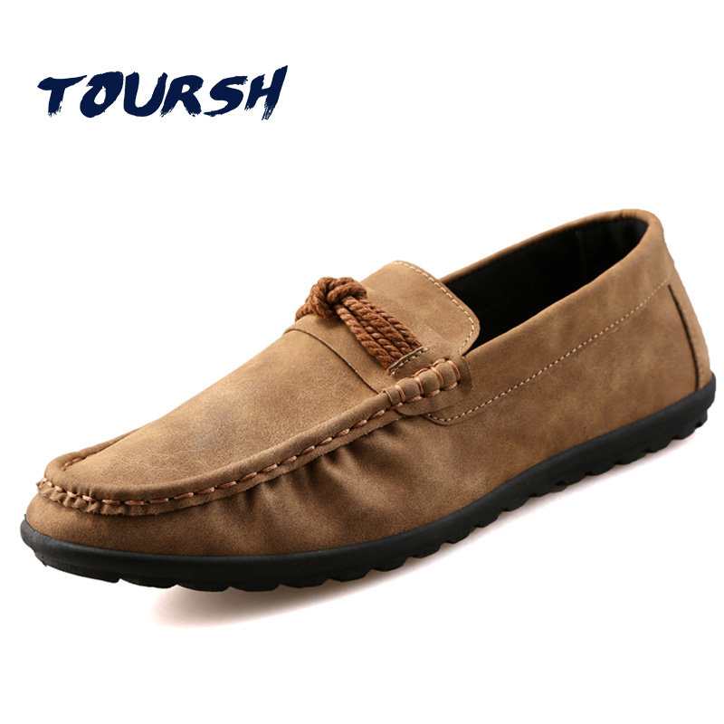 TOURSH Shoes Men Casuals Moccasins Men Loafers For Men Casual Shoes Men Flats Gommino Mens Suede Driving Shoes Hommes Chaussures vintage bohemian ethnic colored tube seed beads flower rhinestone handmade elastic headband hair band hair accessories