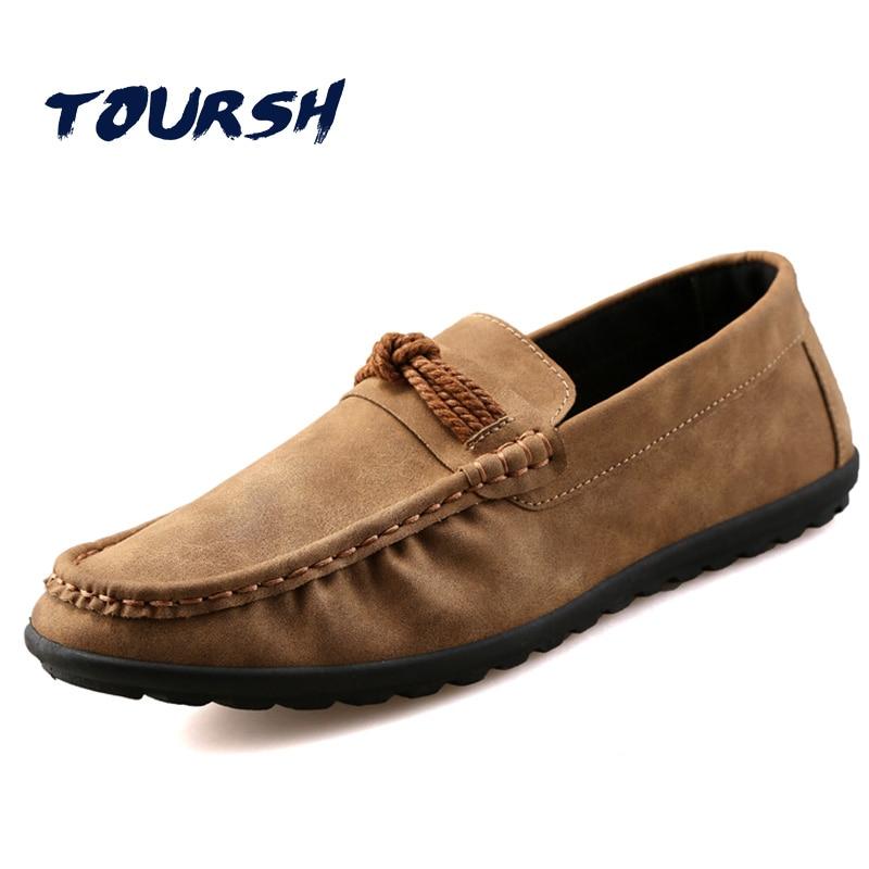 TOURSH Shoes Men Casuals Moccasins Men Loafers For Men Casual Shoes Men Flats Gommino Mens Suede Driving Shoes Hommes Chaussures dxkzmcm men shoes casual driving oxfords shoes men loafers moccasins italian shoes for men flats