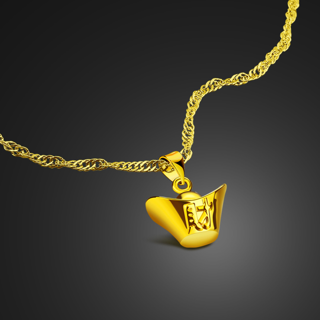 US $7 98  Chinese style 925 sterling silver material 24k gold necklace girl  charm jewelry Chinese coin pendant design mean to bring wealth-in Pendant