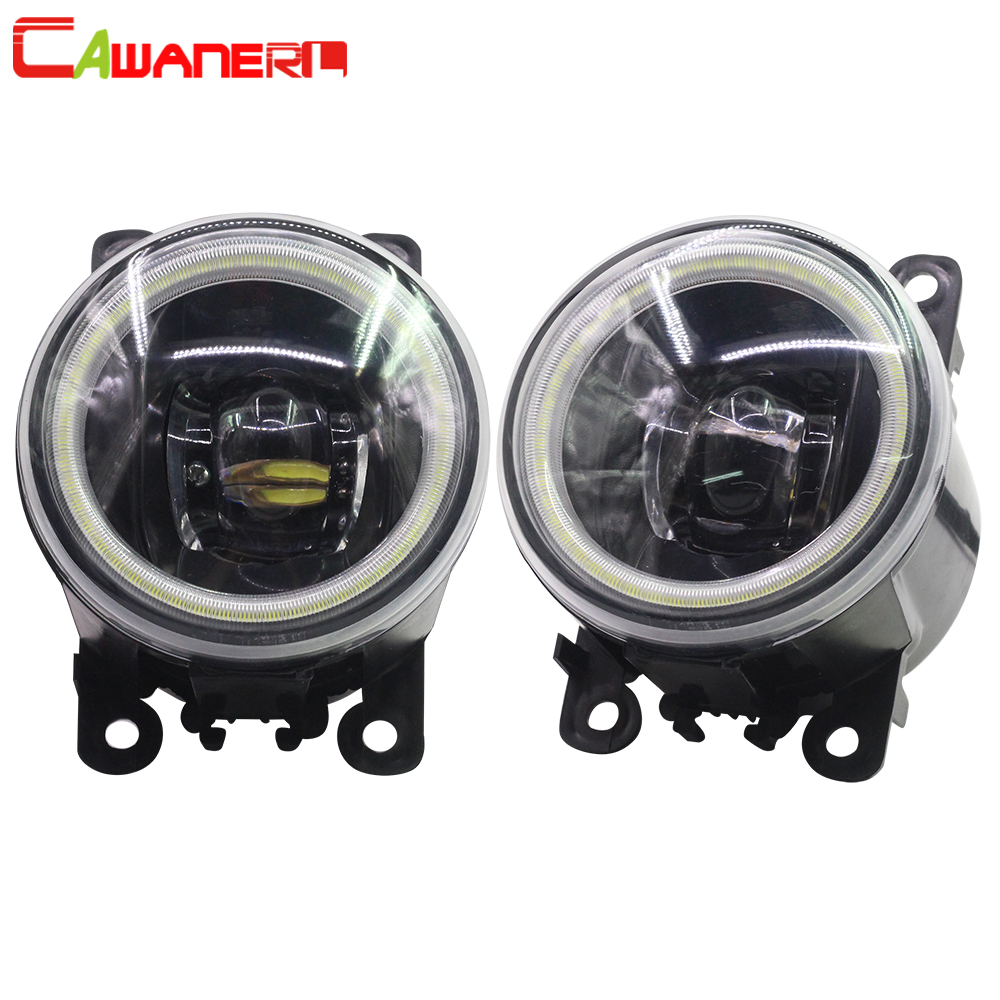 Cawanerl For Peugeot 107 Hatchback 2005 Up Car Styling LED Fog Light Angel Eye DRL Daytime