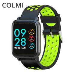 COLMI Smartwatch S9 2.5D Schermo In Vetro Gorilla di ossigeno Nel Sangue Misuratore di pressione Sanguigna BORDO IP68 Impermeabile Activity Tracker Intelligente Orologio