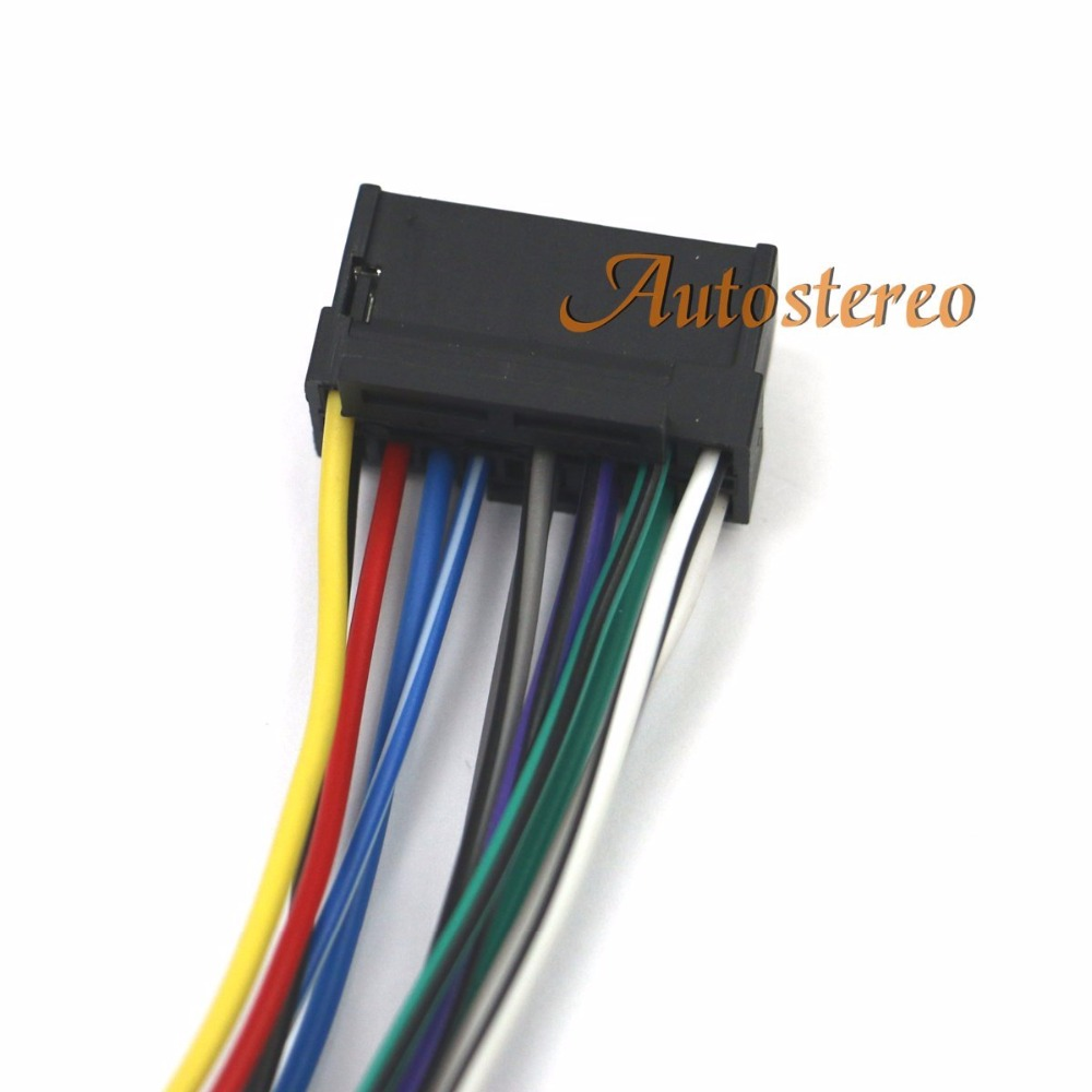 Autostereo Iso Standard Harness Car Audio For Sony Cdjvc 16 Pin Sonywiringharnesscarstereo9pinwireconnector Pin30x12mm Female Radio Wire Adapter Connector In Cables Adapters Sockets From