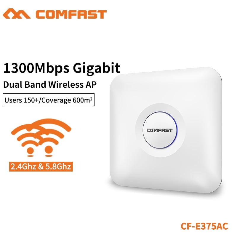 COMFAST 1300 Мбит/с Gigabit Dual Band беспроводной потолок AP 2,4 г и 5,8 ГГц высокое мощность Wi fi маршрутизатор сигнала Усилитель удлинитель CF E375AC