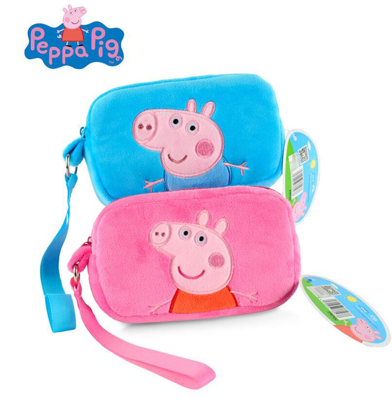 Us 4 85 100 Genuine Peppa Pig Embroidered Cross Bag Peppa George Cute Cartoon Square Purse Plush Bag 15cm In Plush Backpacks From Toys Hobbies On